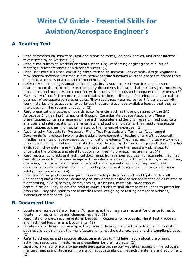 Aviation Resume Writing. Resume Skill And Qualifications For