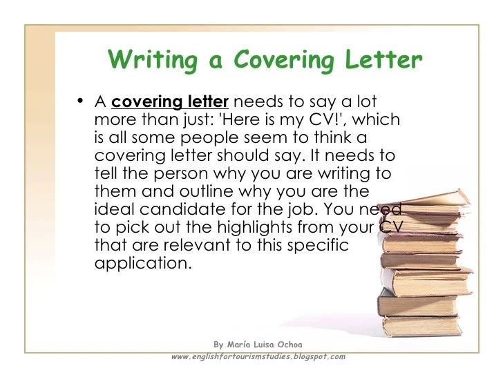 What is a cover letter for a resume supposed to say