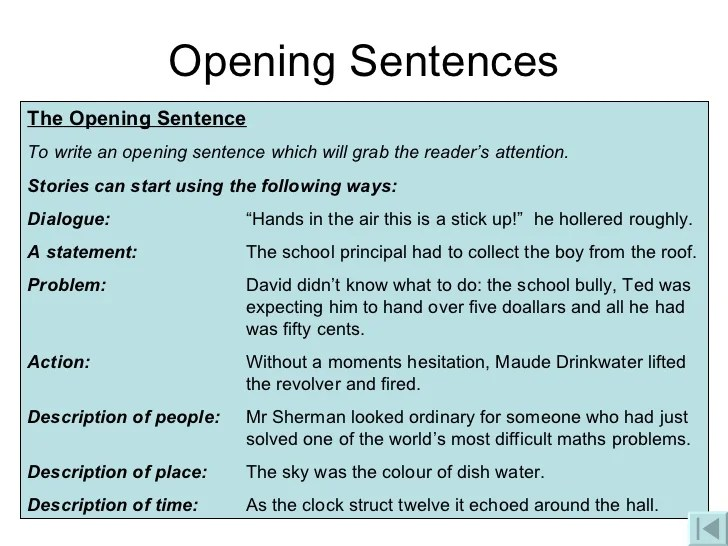 First Paragraph Starters For A Narrative Essay - image 7