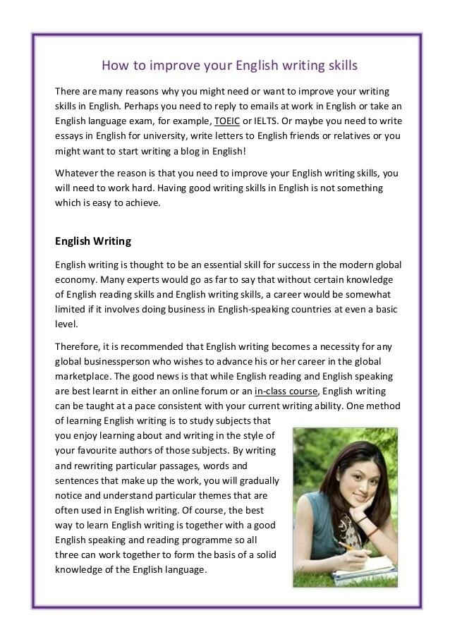 How To Improve English Speaking Skills Pdf
