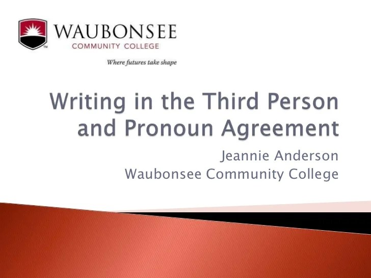 essay in first or third person The point of view you write in affects how readers react to your ideas when writing a research paper, avoid using first person words like.