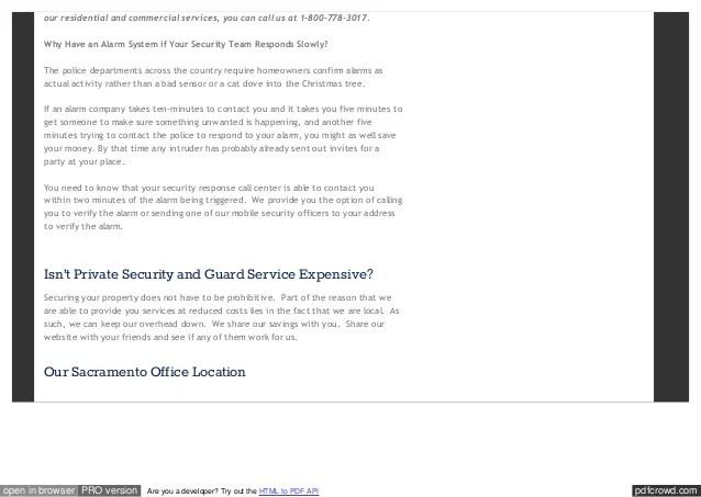 Sacramento Security Services