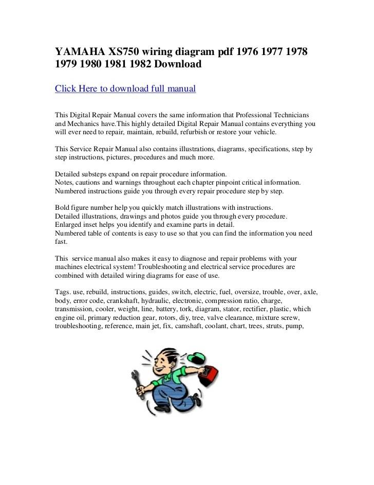 Yamaha xs750 wiring diagram pdf 1976 1977 1978 1979 1980 1981 1982 do…