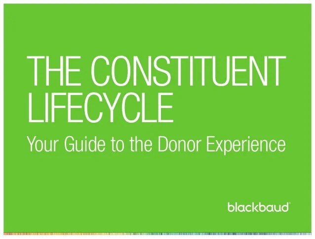 The Constituent Lifecycle: A Complete Guide to the Donor