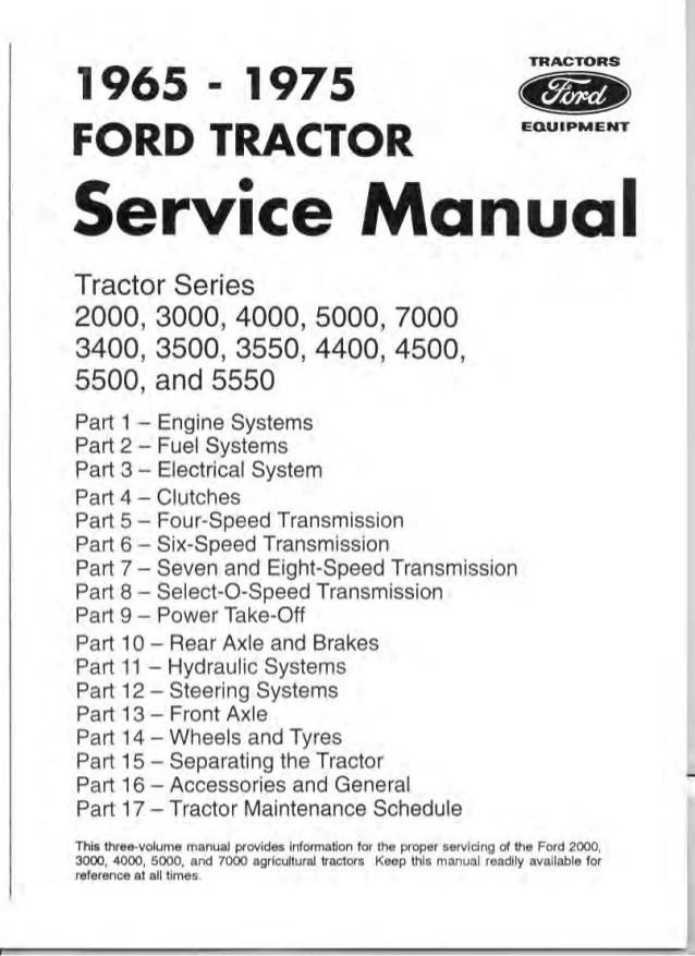 1970 ford 4000 tractor service repair manual