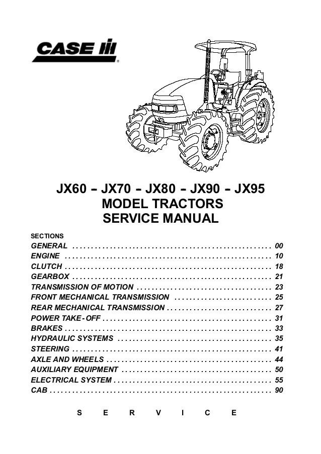 CASE IH JX80 TRACTOR Service Repair Manual