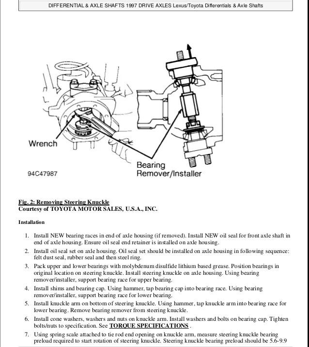 1996 LEXUS LX450 (LX450) Service Repair Manual
