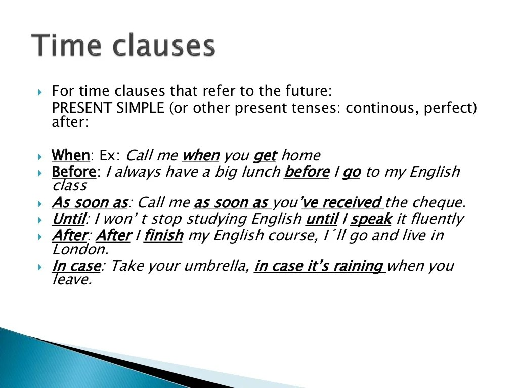 Zero And First Conditionals And Future Time Clauses