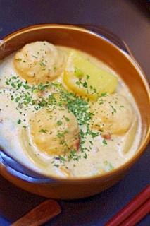塩麹とオリーブオイルのクリームシチュー