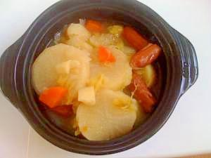 炊飯器のみで作るシンプルな味付けのポトフ