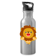 Water Bottle - Bottles & Mugs Hi! Cute Playful Cartoon Lion Cheerful Madness!! Bottles & Mugs