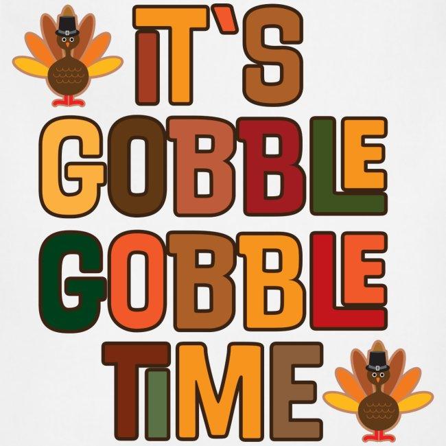 Thanksgiving Gobble Gobble Time - Adjustable Apron   Homewise Shopper