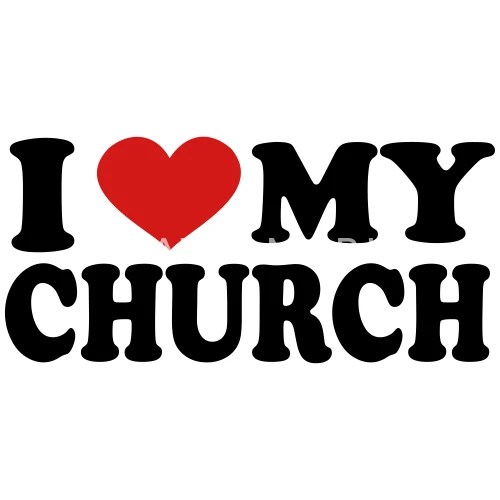 Download I Love my church by mycustomizedtshirts | Spreadshirt