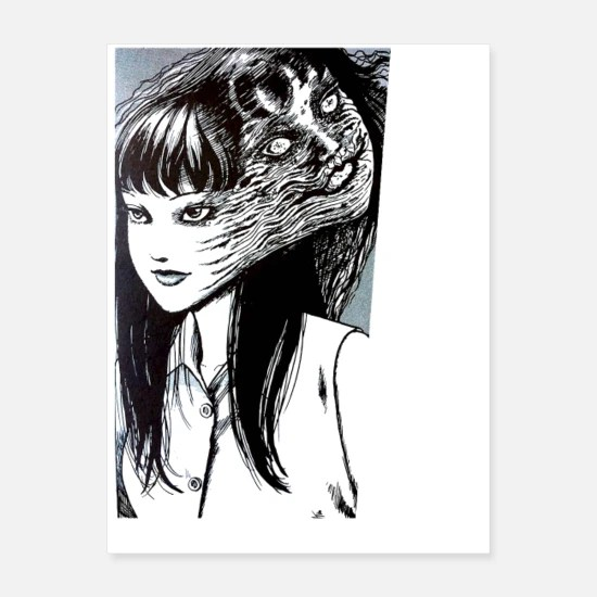 tomie junji ito collection poster white