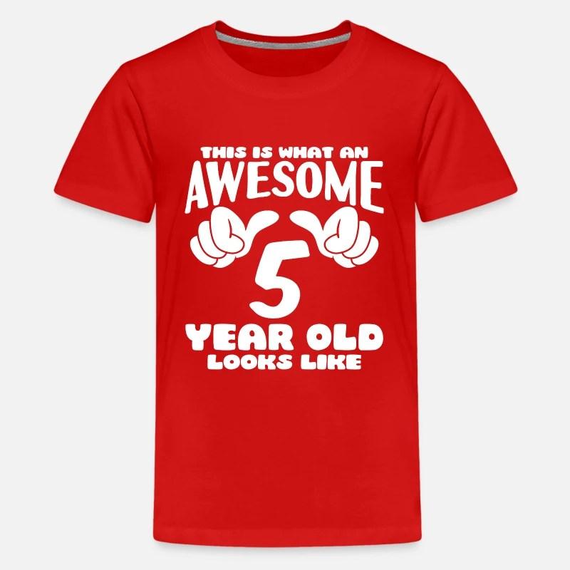 5th Birthday T Shirts Unique Designs Spreadshirt