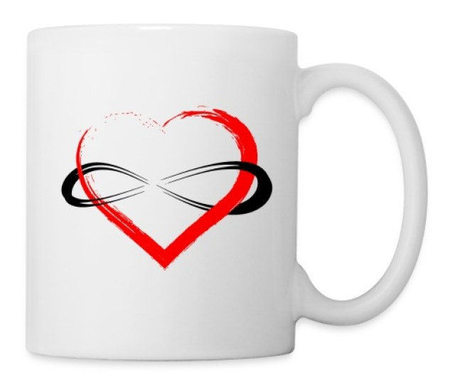 Infinity Heart Coffee Tea Mug
