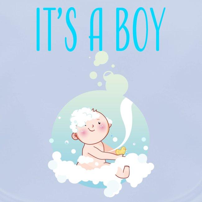 Baby Mode Und Schwangerschafts T Shirt Its A Boy Badewanne