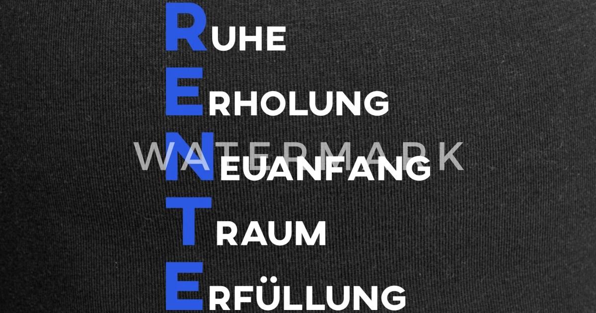 Rente Lustige Spruche Geschenk Oma Rentnerin Beanie Spreadshirt