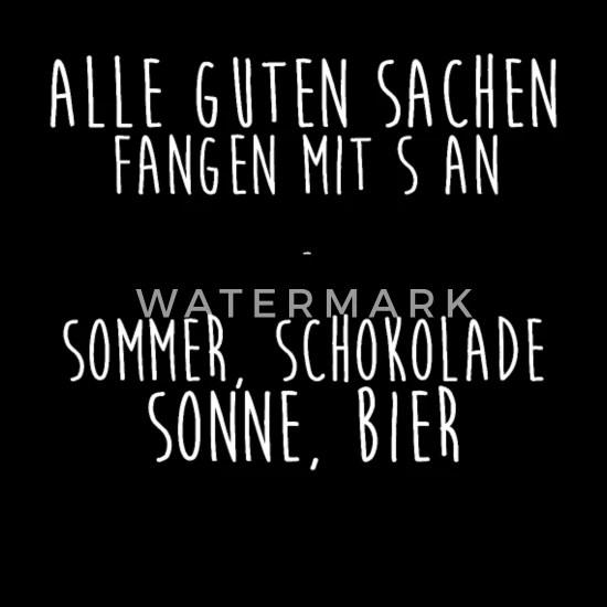 Schokolade Sommer Sonne Bier Lustige Spruche Stoffbeutel Spreadshirt