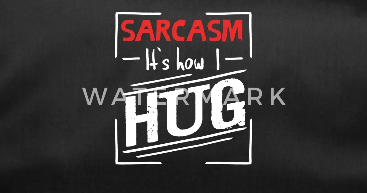 Sarkasmus Ironie Spruch Umarmung Free Hug Sporttasche Spreadshirt