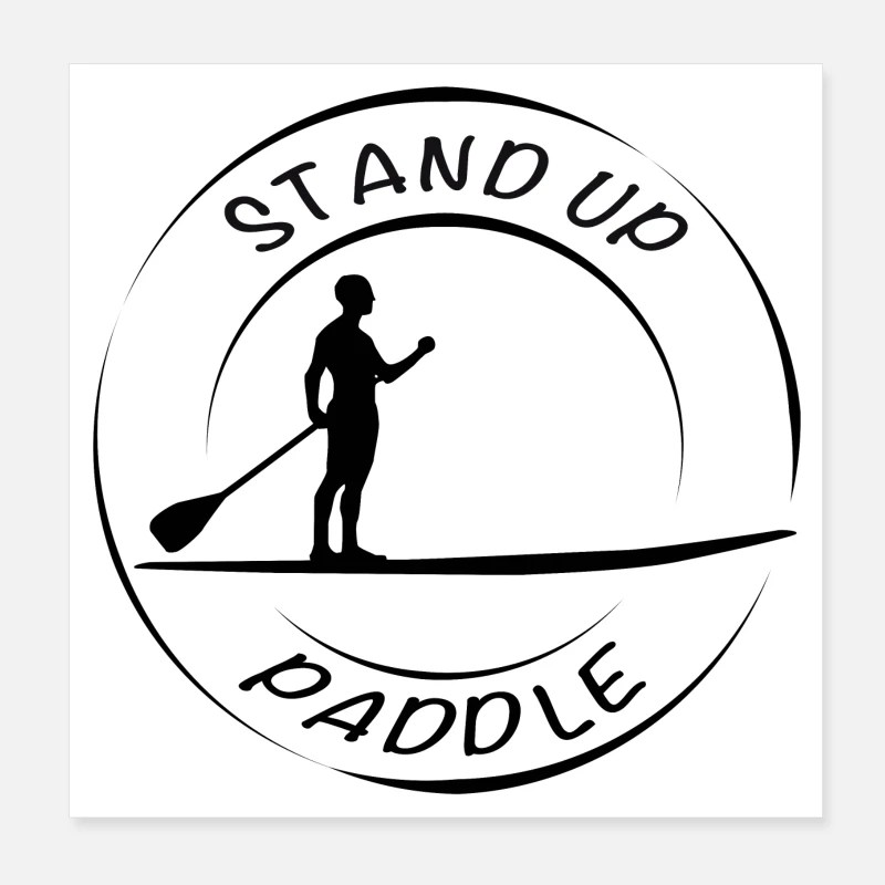 sup trend stand up paddle logo schwarz poster weiss