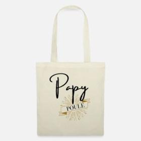 Papy poule - Sac en tissu