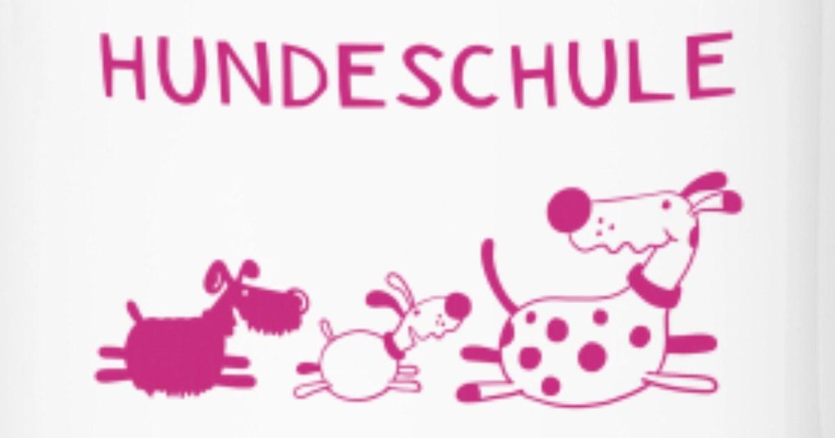 Lustige Hundeschule Hund Hunde Comic Thermobecher Spreadshirt