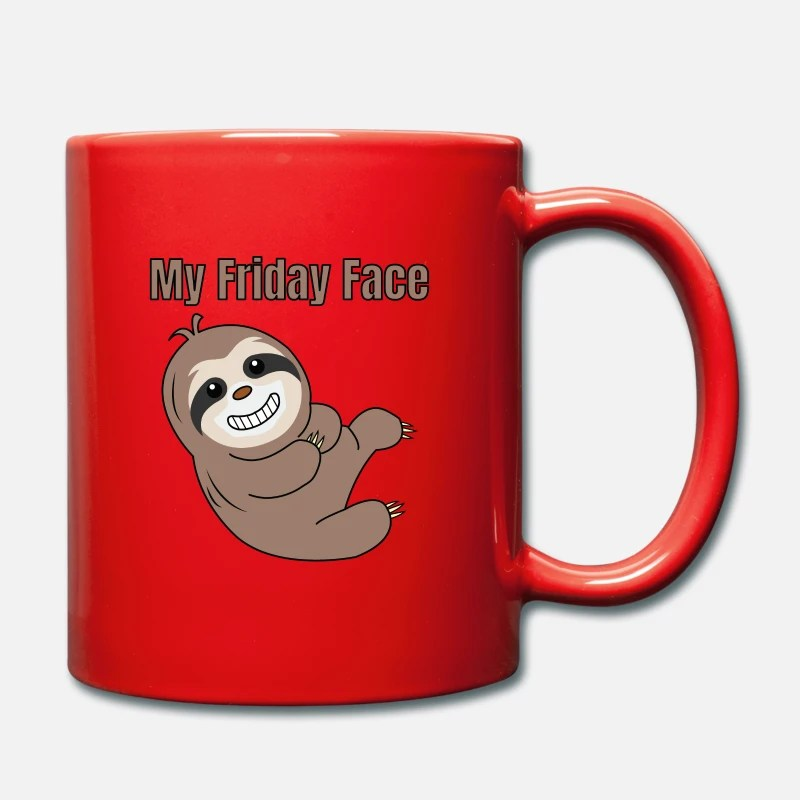 Funny Lazy But Cute Tshirt Design My Friday Face Mousepad