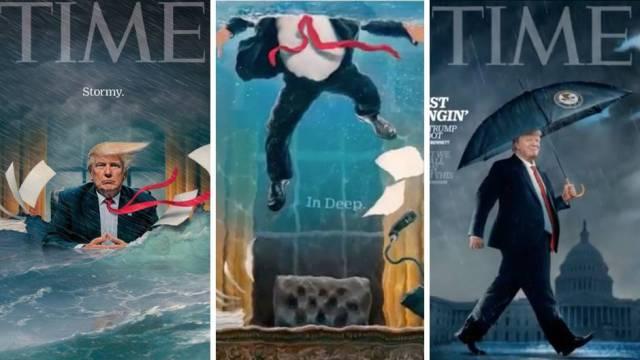 """Das """"Time Magazine"""" zeigt Trump nach den Russland-Ermittlungen"""