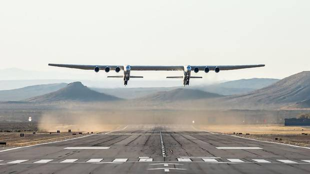 Stratolaunch is a massive carrier aircraft from which satellites are to be launched by launcher from altitudes in excess of 10,000 meters