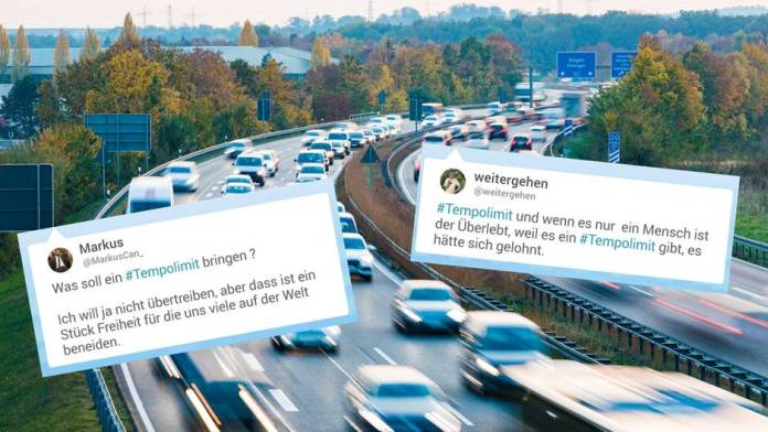 Speed limit on German motorways? The subject divides the Republic.