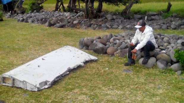 At the end of July 2015, this wreckage was washed up by MH370 on the island of Reunion