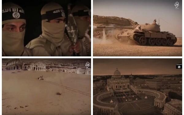 "Roma, transformata in desert si tancurile jihadiste inaintand spre Vatican. Cum arata ""sfarsitul lumii"" in versiunea ISIS"