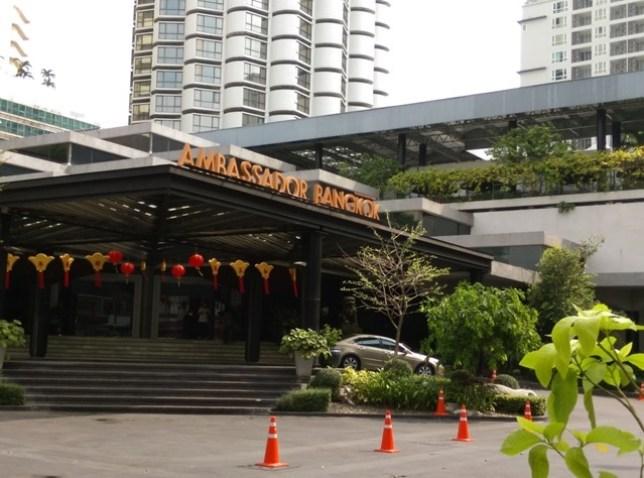hotel1 Bangkok-Ambassador Hotel老飯店 交通方便