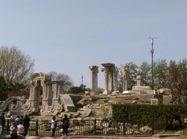 56 Beijing-圓明園 英法聯軍毀的差不多了 但還是被列入世界文化遺產