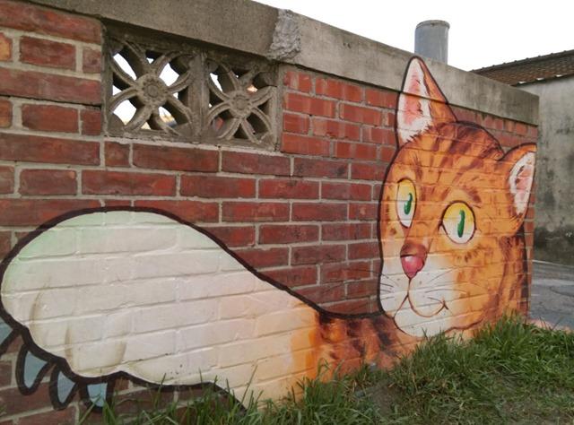 041 虎尾-頂溪 屋頂上的貓 可愛的彩繪社區