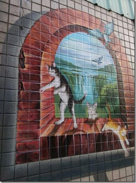 06_thumb1 虎尾-頂溪 屋頂上的貓 可愛的彩繪社區
