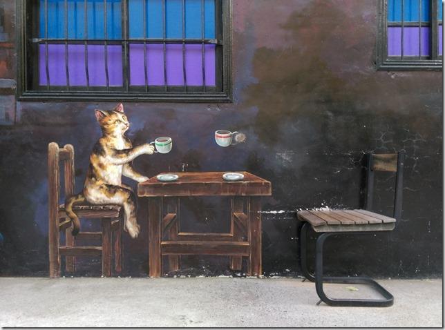 12_thumb1 虎尾-頂溪 屋頂上的貓 可愛的彩繪社區