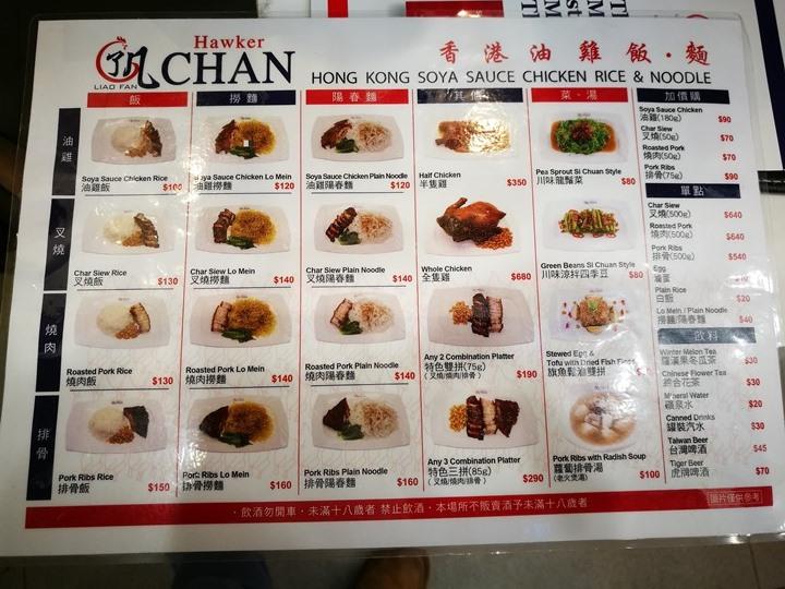 hawkerchan03 中正-了凡香港油雞 來自怡保發光在新加坡的香港油雞叉燒小店 米其林一星