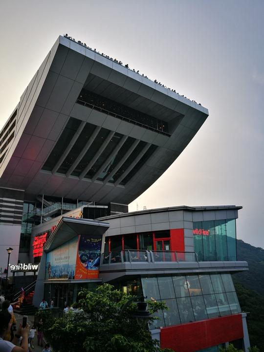 thepeak05 HK-擁擠的太平山The Peak 太平山夜景香港城市的擁擠