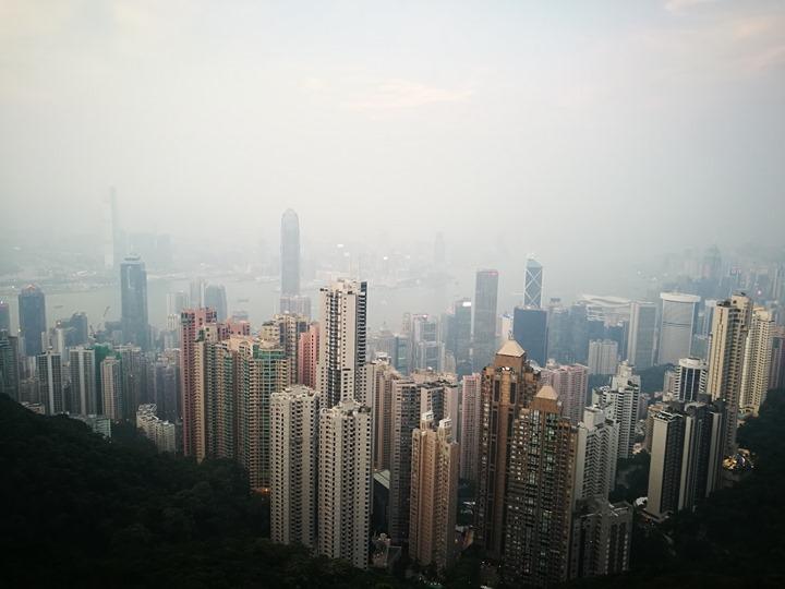 thepeak14 HK-擁擠的太平山The Peak 太平山夜景香港城市的擁擠