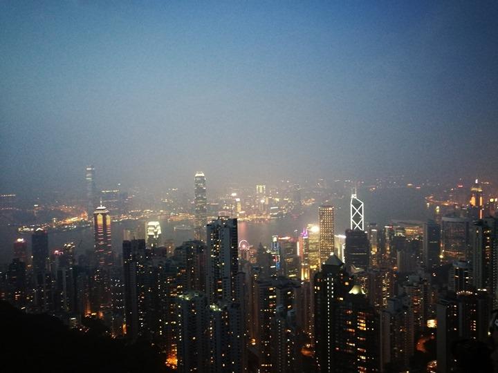 thepeak19 HK-擁擠的太平山The Peak 太平山夜景香港城市的擁擠