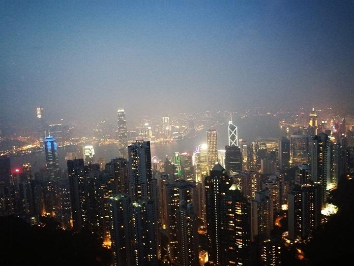 thepeak20 HK-擁擠的太平山The Peak 太平山夜景香港城市的擁擠