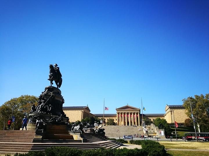 Philly34 Philadelphia-羅丹博物館看雕塑/費城藝術博物館 深植人心的拳王洛基拍攝處