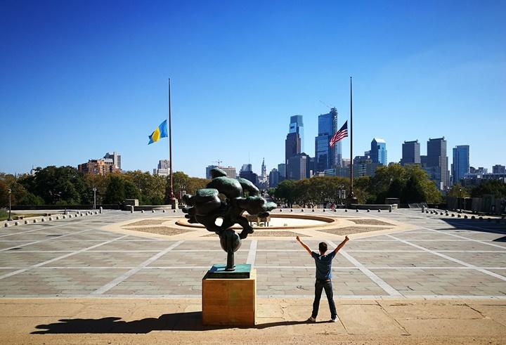 Philly39 Philadelphia-羅丹博物館看雕塑/費城藝術博物館 深植人心的拳王洛基拍攝處