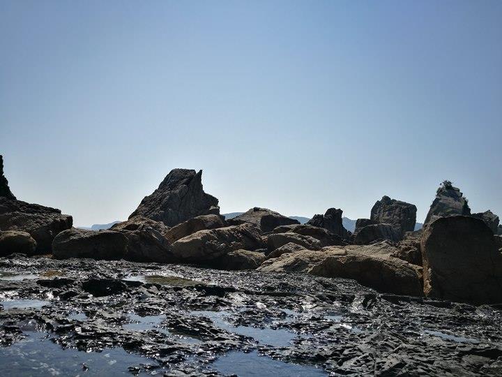 Hashiguiiwa0111-1 Kushimoto-橋杭岩 和歌山串本地質奇景