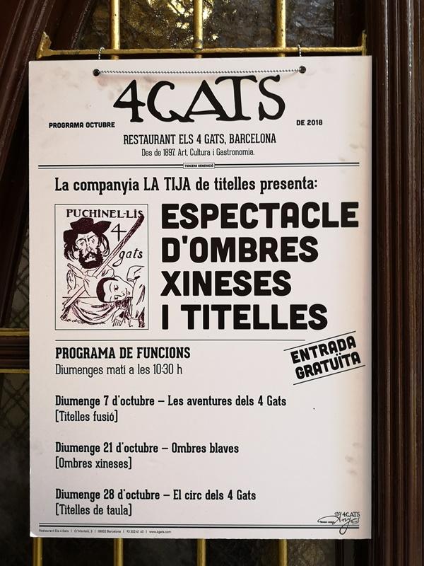bcn4cats04 Barcelona-巴塞隆納四隻貓咖啡 Els Quatre Gats感受藝文風情的咖啡館
