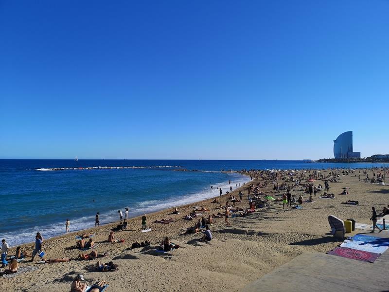 barcelonabeach16 Barcelona-嗨!地中海你好!! 巴塞隆納海岸Platja de la Barceloneta 海天一線超美