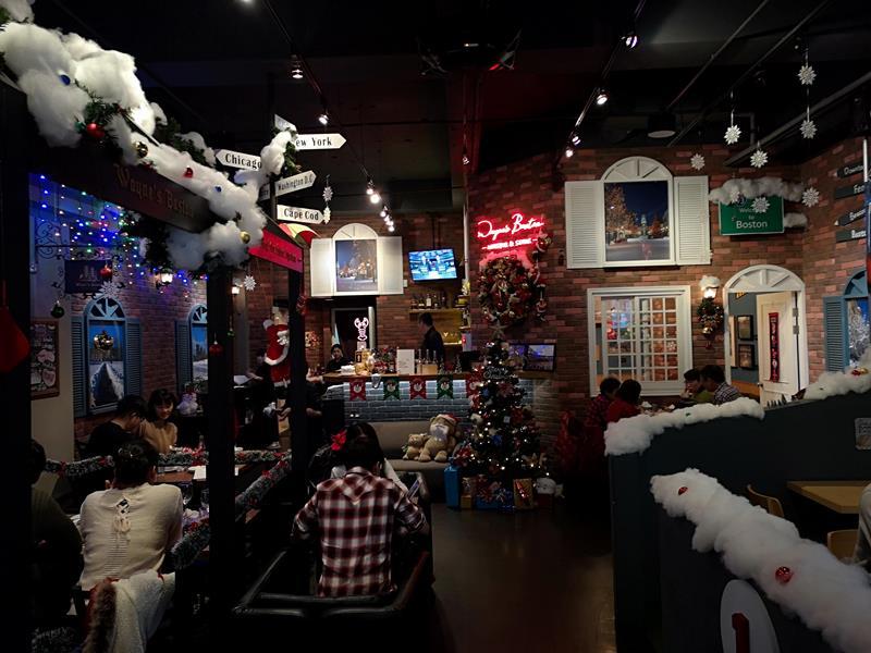 wayne02 中山-Wayne's Boston美式餐廳的海陸大餐龍蝦彈牙肋眼軟嫩 意外的耶誕大餐