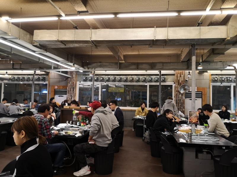 KoreaBBQ09 Seoul-濟州大石板烤五花肉店 首爾樂天世界旁傳統烤肉五花肉彈韓牛嫩